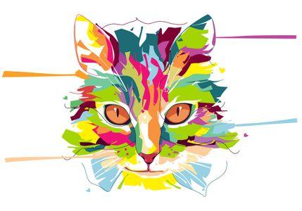Cat - Animal Life - Pop Art Portrait