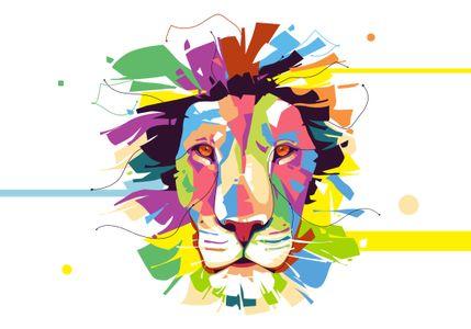 Lion - Popart Portrait