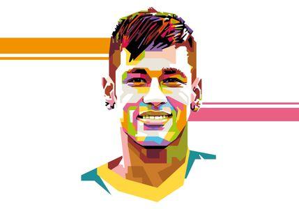 Neymar - Popart Portrait