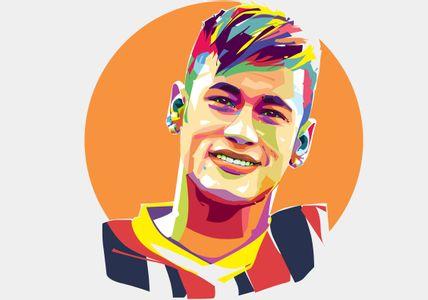 Neymar vector Popart Portrait
