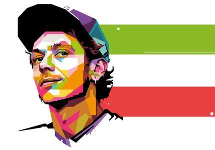 Valentino Rossi - Popart Portrait